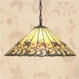 64194 Jamelia 3 Light Tiffany Large Ceiling Pendant