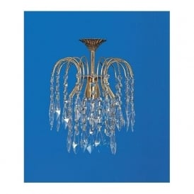 Impex Russell ST02000/20/01/G Shower Heritage 1 Light Crystal Pendant Gold