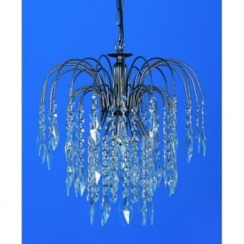 ST02000/35/01/AN Shower Heritage 1 Light Crystal Pendant Antique Nickel