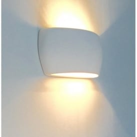 0318MAR Marton 1 Light Double Insulated Gypsum Wall Light 7073 Style