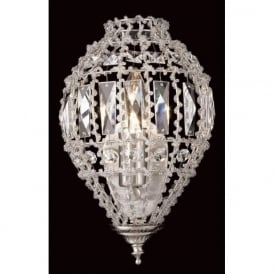 CO01219/WB/C Bombay 1 Light Crystal Wall Light Satin Chrome