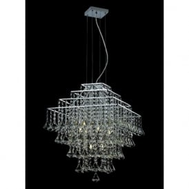 CFH301171/06/CH Parma Square 6 Light Ceiling Pendant Chrome