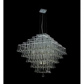 CFH301171/12/CH Parma Square 12 Light Ceiling Pendant Chrome