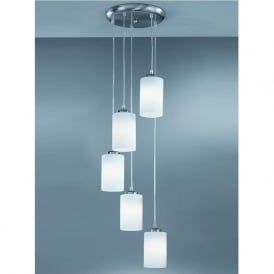 CO9575/727 Modern 5 Light Ceiling Pendant Satin Nickel