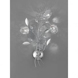 FL2210/3 Nebula 3 Light Crystal Wall Light Polished Chrome