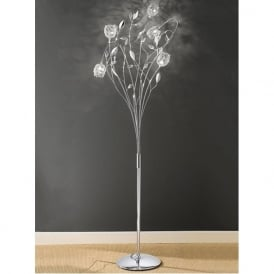 SL164 Nebula 5 Light Crystal Floor Lamp Polished Chrome