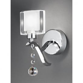 FL2164/1 Theory Wall Light Polished Chrome