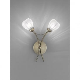 FL2207/2 Chloris 2 Light Wall Light Bronze