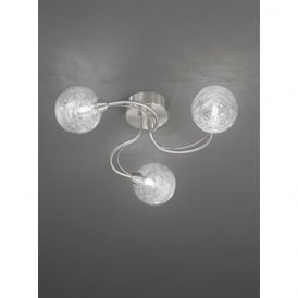FL2327/3 Gyro 3 Light Semi-flush Ceiling Light Satin Nickel