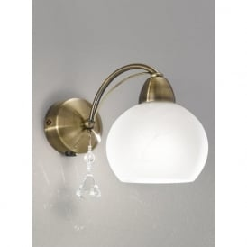 FL2278/1 Thea 1 Light Switched Wall Light Bronze