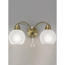 FL2278/2 Thea 2 Light Switched Wall Light Bronze
