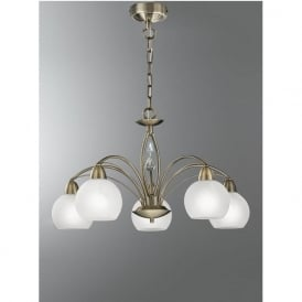 FL2278/5 Thea 5 Light Ceiling Light Bronze