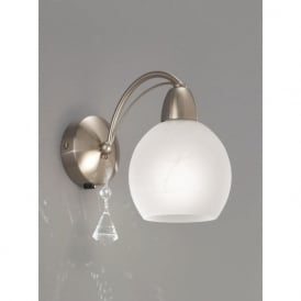 FL2277/1 Thea 1 Light Switched Wall Light Satin Nickel