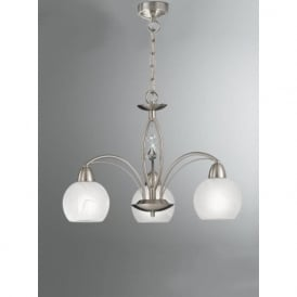 FL2277/3 Thea 3 Light Ceiling Light Satin Nickel