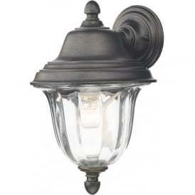 ALD1635 Aldgate 1 Light Outdoor Wall Lantern Black/Gold