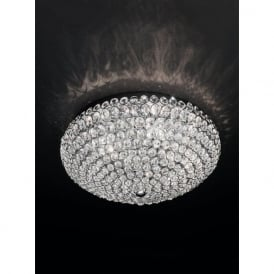 FL2275/6 Marquesa 6 Light Crystal Flush Ceiling Light Polished Chrome