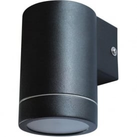 ALGU10WL1SQ-BK 1 Light Outdoor Black Wall Light Fixed IP65