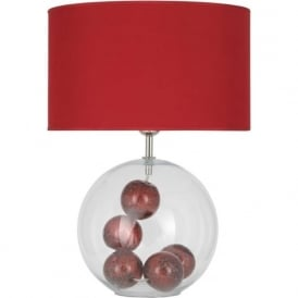 3821-RED-C Watson 1 Light Table Lamp Red