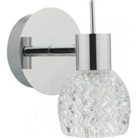 ANI0750 Anika 1 Light Switched LED Wall Spotlight Polished Chrome