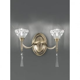 FL2238/2 Desian 2 Light Crystal Wall Light Bronze