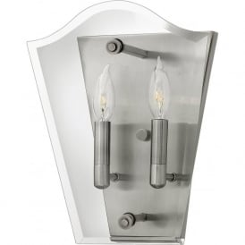 Hinkley HK/WINGATE2 Wingate 2 Light Wall Light Polished Antique Nickel