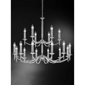 FL2090/18 Petrushka 18 Light Chandelier Polished Chrome
