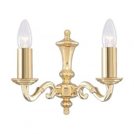 2172-2NG Seville 2 Light Wall Light Polished Brass