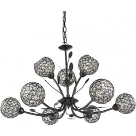 5579-9BC Bellis II 9 Light Ceiling Light Black Chrome