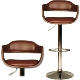 10189 Anna Brown Faux Leather Stool