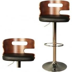 10642 Erin Black Faux Leather Stool
