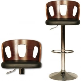 10188 Zoe Black Faux Leather Stool