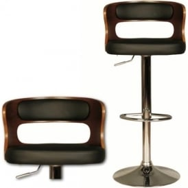 10191 Lorna Black Faux Leather Stool