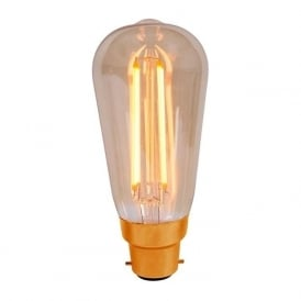 ES/E27 BC/B22 LED 4 Watt Vintage Squirrel Cage Amber Bulb