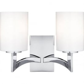 4992-2CC 2 Light Gina Decorative Wall Light Chrome/Glass