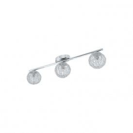92653 Prodo 3 Light Semi Flushed Spot Ceiling Light Polished Chrome