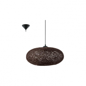 93375 Campilo 1 Light Ceiling Pendant Brown