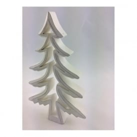5370 Christmas White Tree Cutout