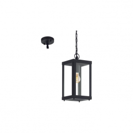 94788 Alamonte1 1 Light IP44 Pendant Black