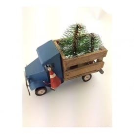 Shoeless Joe 5188 Santa in a Wooden Pick-up Truck