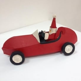 Shoeless Joe 2651R Santa in a Red Car