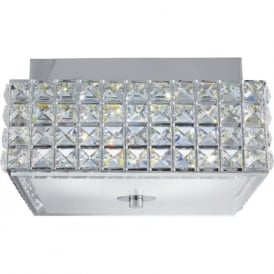 Searchlight 8377CC Rados LED Ceiling Light Polished Chrome