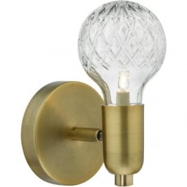 Dar WRE0775 Wrexham 1 Light Switched Wall Light Antique Brass