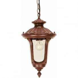 Elstead CC8/S Chicago 1 Light Outdoor Pendant Lantern Bronze IP44