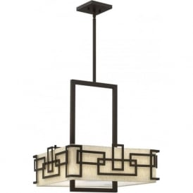 Elstead Hinkley HK/LANZA/P/L Lanza 3 Light Ceiling Pendant Bronze