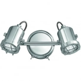 Franklite SPOT8942 Studio 2 Light LED Wall light Polished Chrome