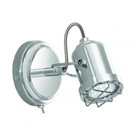 Franklite SPOT8941 Studio 1 Light Switched LED Wall light Polished Chrome