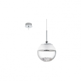 Eglo 93708 Montefio 1 1 Light Ceiling Light Polished Chrome
