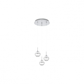 Eglo 93709 Montefio 1 3 Light Ceiling Light Polished Chrome