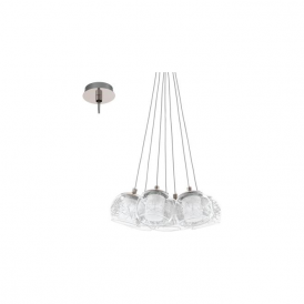 Eglo 94327 Poldras 7 Light Ceiling Light Chrome