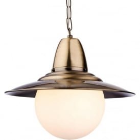 Firstlight 3408AB Marco 1 Light Pendant Antique Brass